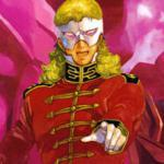"""Full """"The Second Coming of Char Aznable, The Ghost of Char, The Red Comet"""" Frontal"""