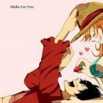 Luffy and Nami