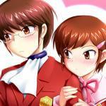 Keima Katsuragi and Chihiro Kosaka