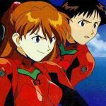 Shinji Ikari and Asuka Langley Soyru