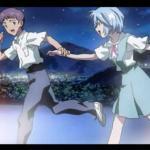 Shinji Ikari and Rei Ayanami