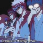 Gintoki asking for 300 Yen